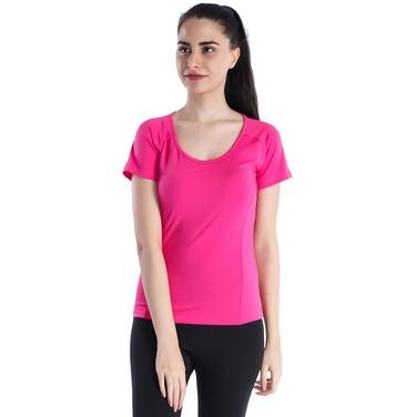 Polnecku Kadın Pembe Günlük Stil Tişört 400215-FUC 714337