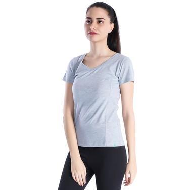 Supkestop Kadın Gri Günlük Stil Tişört 400214-0GM 714270