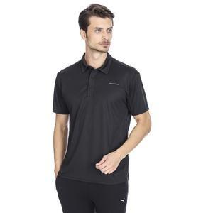 Tournament Erkek Siyah Koşu Polo Tişört S192022-001