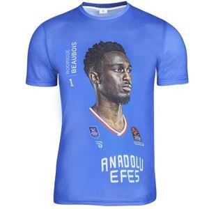 Anadolu Efes Rodrigue Beaubois Unisex Basketbol Tişört TKE2020-BEAUBOIS