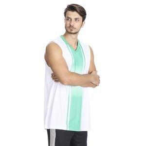 Cougar Erkek Beyaz V Yaka Basketbol Forması 201421-0BY