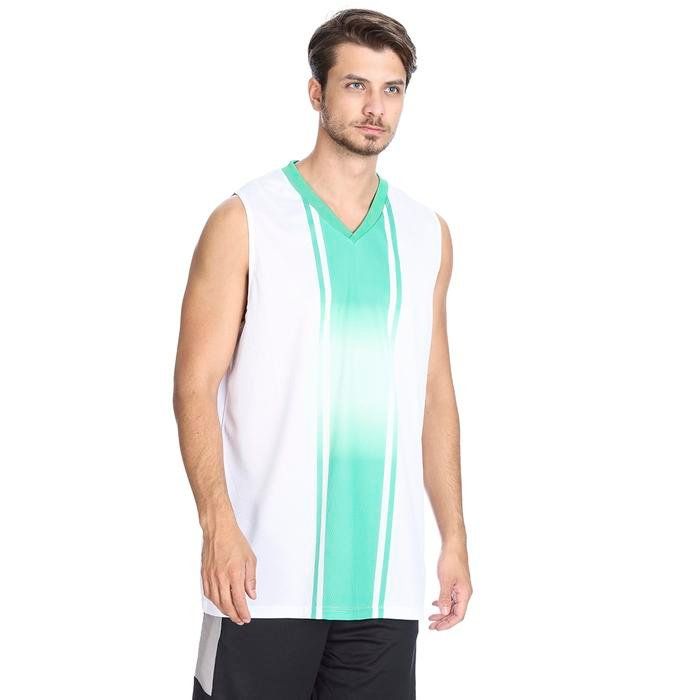 Cougar Erkek Beyaz V Yaka Basketbol Forması 201421-0BY 636438