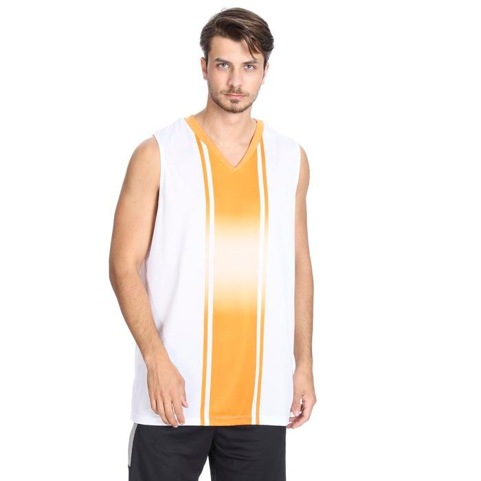 Cougar Erkek Beyaz V Yaka Basketbol Forması 201421-0BT 636447