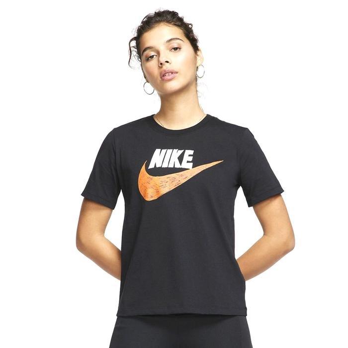 Icn Clsh Top Gfx Kadın Siyah Günlük Stil Tişört CJ2055-010 1174429