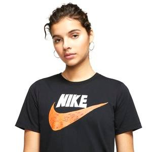 Icn Clsh Top Gfx Kadın Siyah Günlük Stil Tişört CJ2055-010