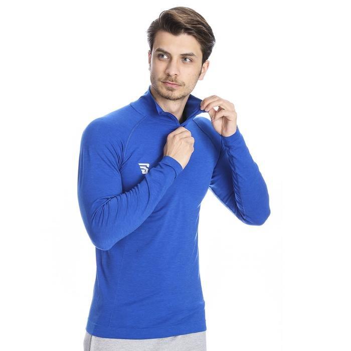 Warm-Up Seamless Erkek Mavi Basketbol Uzun Kollu Tişört Tke5002-00M 1079088