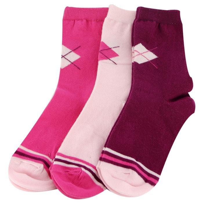 Çok Renkli 3'Lü Çorap 2014011-MIX2 622435