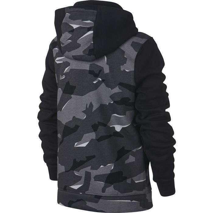 Fz Club Aop Çocuk Siyah Günlük Stil Sweatshirt Ar4077-010 1112781