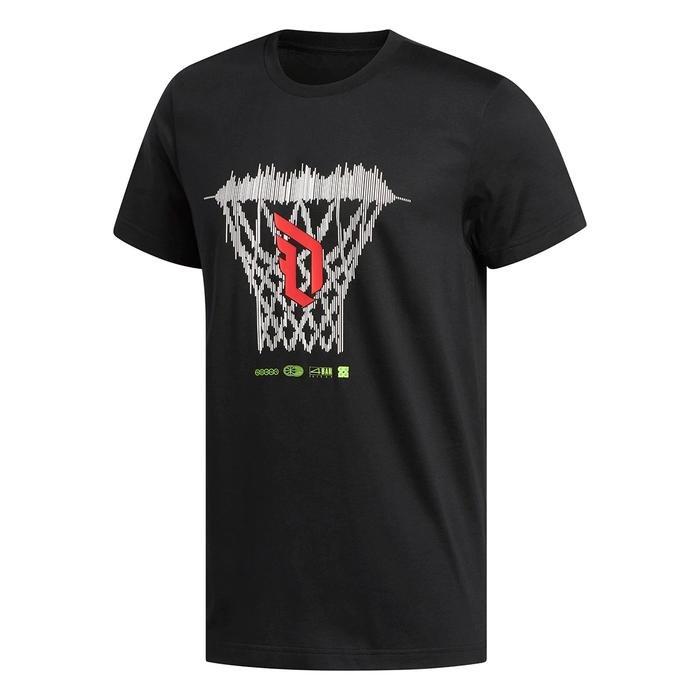 Dame Logo Erkek Siyah Basketbol Tişört FM4791 1177566