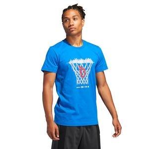 Dame Logo Erkek Mavi Basketbol Tişört FM4793
