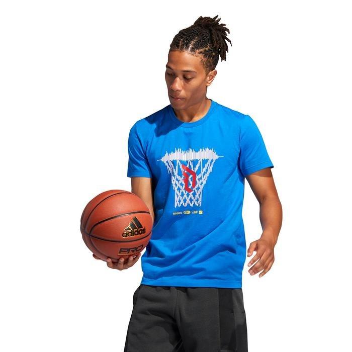 Dame Logo Erkek Mavi Basketbol Tişört FM4793 1177568