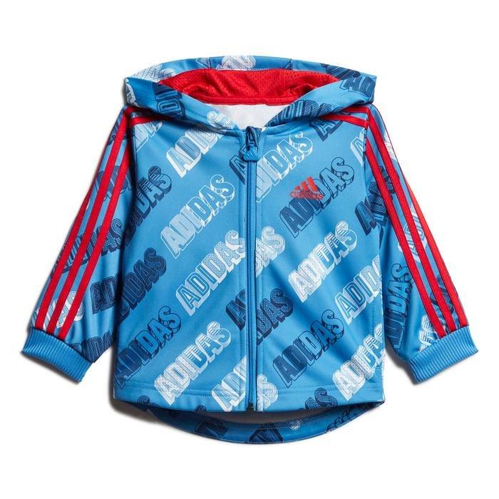 Shiny Jogger Çocuk Mavi Kapüşonlu Eşofman Takımı FM6365 1177614