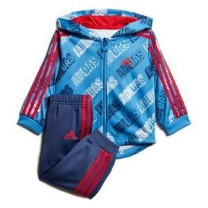Shiny Jogger Çocuk Mavi Kapüşonlu Eşofman Takımı FM6365