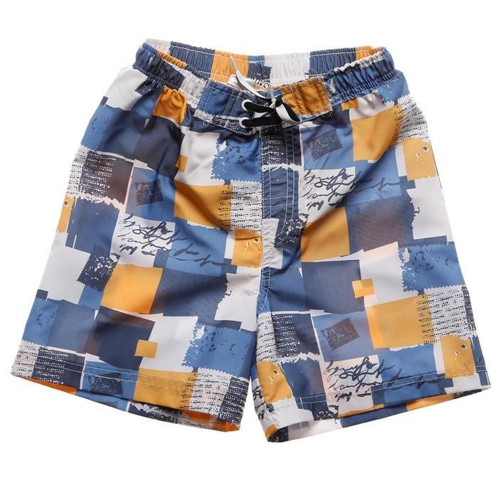 Dash Çocuk Çok Renkli Desenli Deniz Şortu 230126-Kab 389778