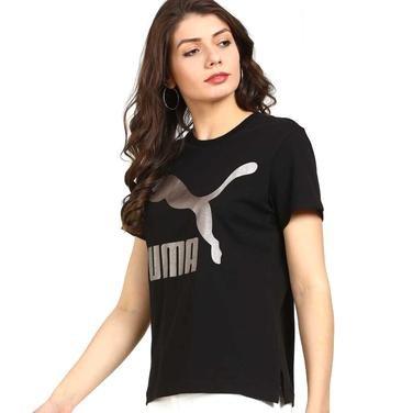 Classics Logo Kadın Siyah Tişört 57624256 1064669