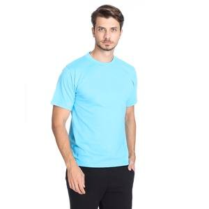 Basic Erkek Mavi Günlük Stil Tişört 060020021Trk2