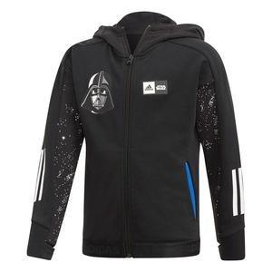 Star Wars Çocuk Siyah Kapüşonlu Ceket FM2868
