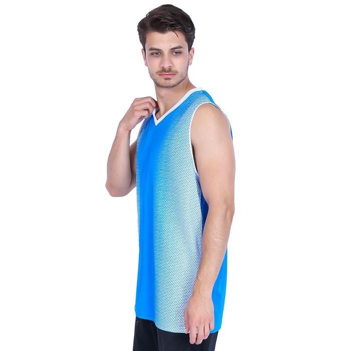 Bengal Erkek Mavi V Yaka Basketbol Forması 201420-0XB 636393