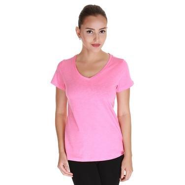 Flakestop Kadın Pembe Günlük Stil Tişört 610003-0Pn 802510