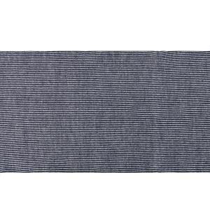 İnce Örme Lacivert Çizgili Günlük Atkı HYC206
