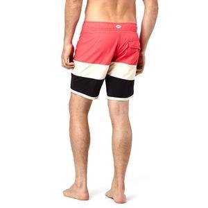 Grinder Erkek Desenli Siyah-Kırmızı-Beyaz Yüzme Şort Mayo