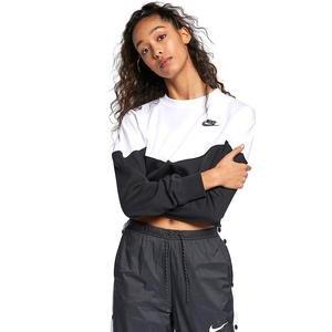 Hrtg Crew Flc Kadın Siyah Antrenman Uzun Kollu Tişört AR2505-010