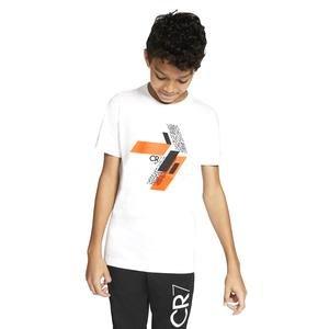 Cr7 B Nk Tee Hook Çocuk Beyaz Futbol Tişört CU9572-100