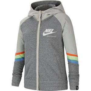 Nsw Heritage Fz Hoodie Çocuk Siyah Tenis Sweatshirt CU8293-091