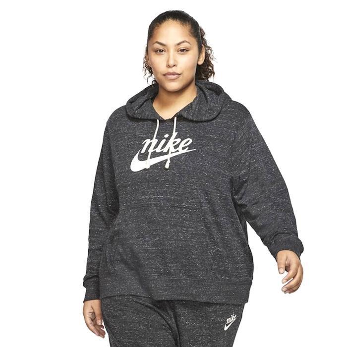 Gym Vntg Hoodie Hbr Plus Kadın Siyah Antrenman Sweatshirt CT0642-010 1204864