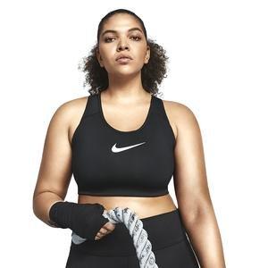 Swoosh Plus Size Bra Kadın Siyah Antrenman Sporcu Sütyeni BQ0973-010