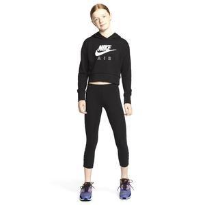 Nsw Air Crop Ft Hoodie Çocuk Siyah Tenis Sweatshirt CZ6234-010