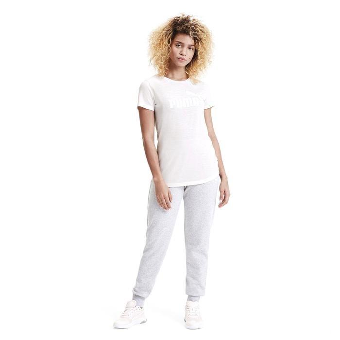 Ess+ Logo Heather Tee Kadın Beyaz Günlük Tişört 85212717 1172566