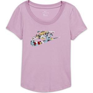 Nsw Tee School Dfused Floral Çocuk Kırmızı Tenis Tişört CZ1245-676