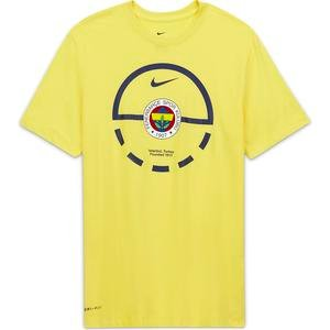 Fen M Nk Dry Tee Ss Team Erkek Sarı Basketbol Tişört CZ3489-729