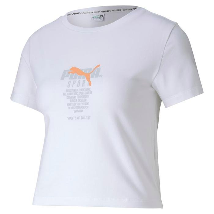 Tfs Graphic Crop Top Kadın Beyaz Tişört 59625802 1173116