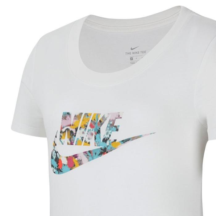 Nsw Tee School Dfused Floral Çocuk Beyaz Tenis Tişört CZ1245-100 1212293