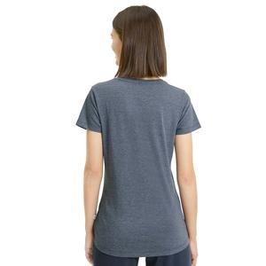 Ess+ Logo Heather Tee Kadın Gri Günlük Tişört 85212743