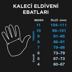 Tempesta Unisex Sarı Futbol Kaleci Eldiveni SPT-KE106
