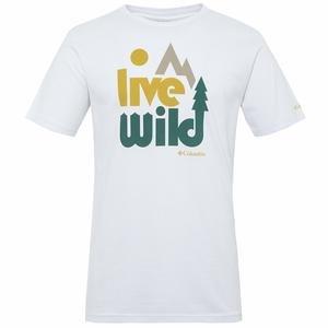 Live Wild Erkek Beyaz Outdoor Tişört CS0004-101