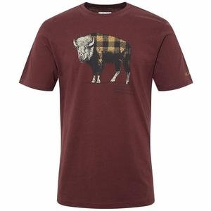 Check The Buffalo Erkek Bordo Outdoor Tişört CS0011-615