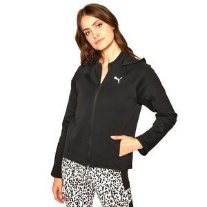 Evostripe Full-Zip Kadın Siyah Günlük Sweatshirt 58353201