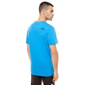 S-S Simple Dome Tee Erkek Mavi Outdoor Tişört NF0A2TX5W8G1