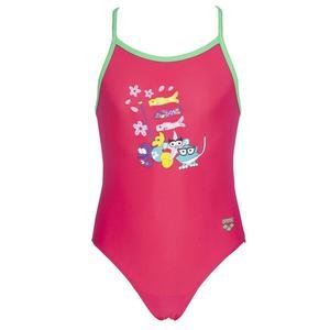 Girl One Piece Çocuk Pembe Yüzücü Mayo 003092906