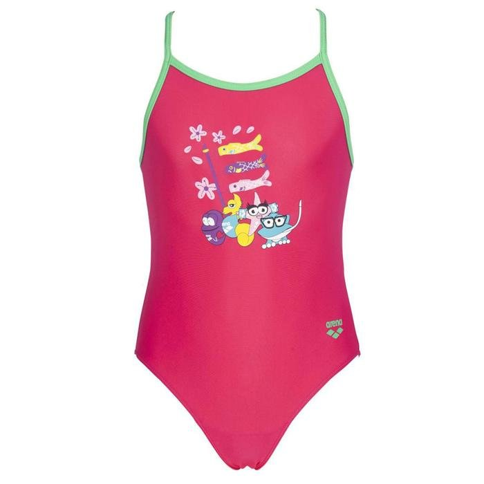 Girl One Piece Çocuk Pembe Yüzücü Mayo 003092906 1189614