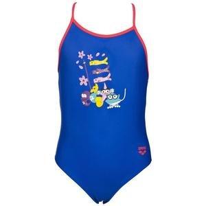 Girl One Piece Çocuk Mavi Yüzücü Mayo 003092704