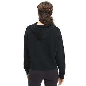 Ess Metallic Cropped Hoody Tr Kadın Siyah Günlük Sweatshirt 58241156