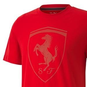 Ferrari Style Big Shieldtee Erkek Kırmızı Günlük Tişört 59793502