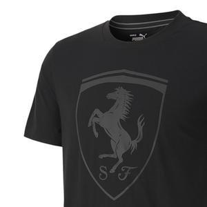 Ferrari Style Big Shieldtee Erkek Siyah Günlük Tişört 59793501