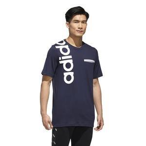 New A T Erkek Mavi Günlük Stil Tişört GD5968