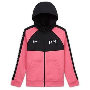 Km B Hybrid Flc Fz Hoodie Çocuk Kırmızı Futbol Sweatshirt CK5562-607